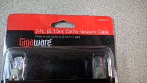 Gigaware Cat5e Network Cable Lot Ethernet Cables (rj-45/8p8c)
