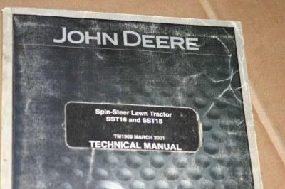 LotImg63440 jd john deere sst16,sst18 tractor technical manual on ebid united