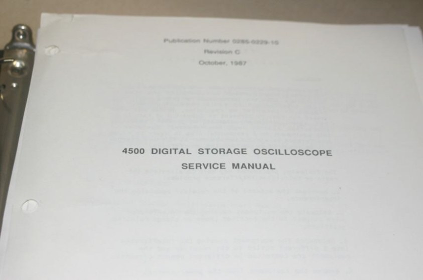 gould 4500 digital storage oscilloscope users guide service rh ebay ie