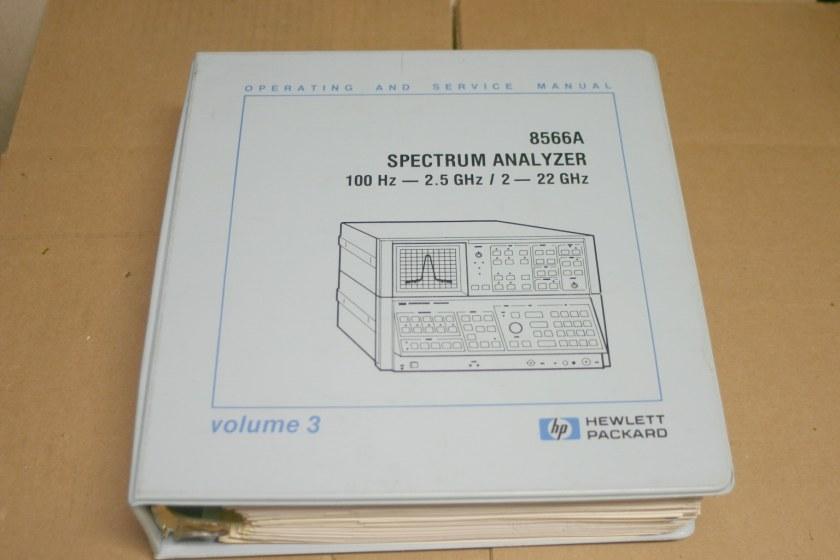 Hp 8566a service manual
